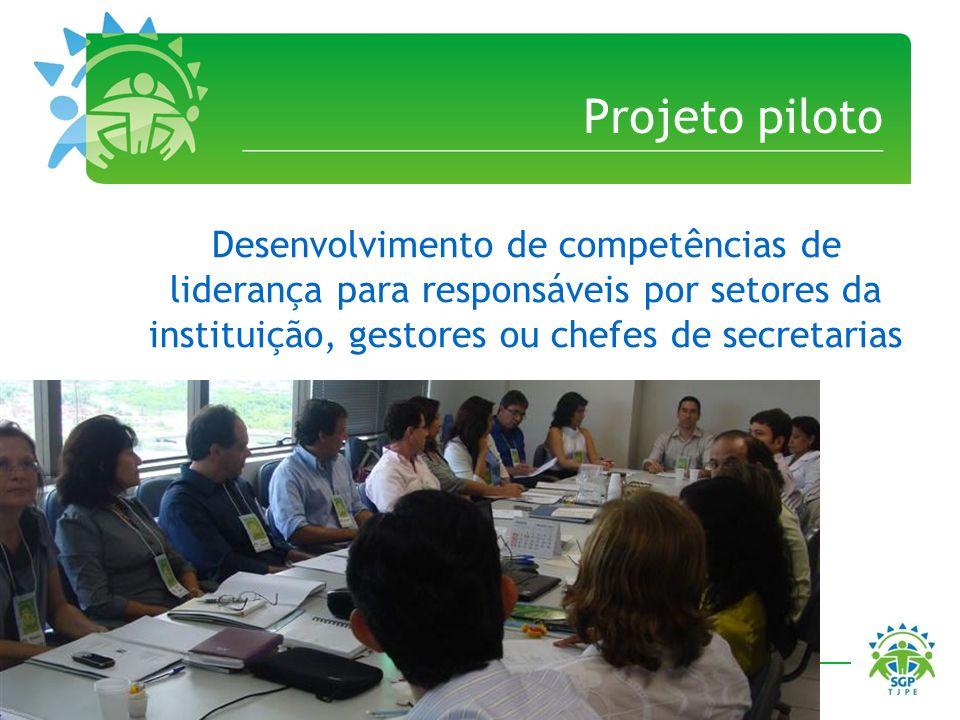 Projeto piloto Desenvolvimento de competências de liderança para responsáveis por setores da instituição, gestores ou chefes de secretarias.