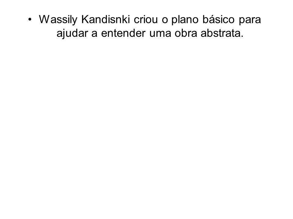 Wassily Kandisnki criou o plano básico para ajudar a entender uma obra abstrata.