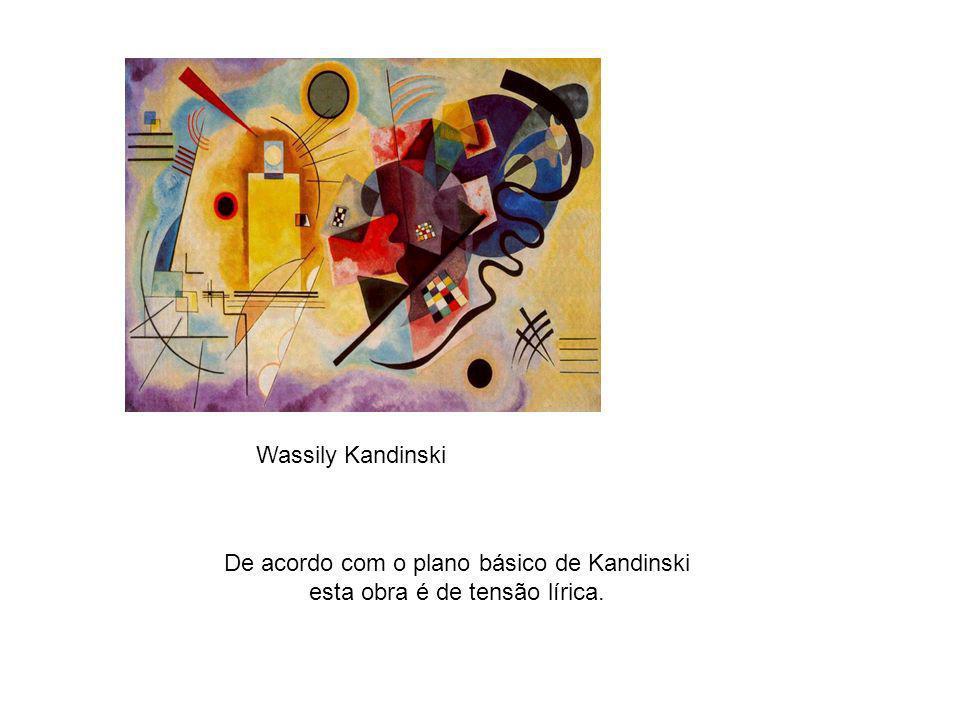 De acordo com o plano básico de Kandinski