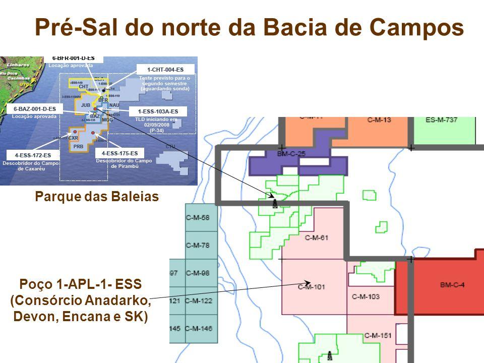 Pré-Sal do norte da Bacia de Campos