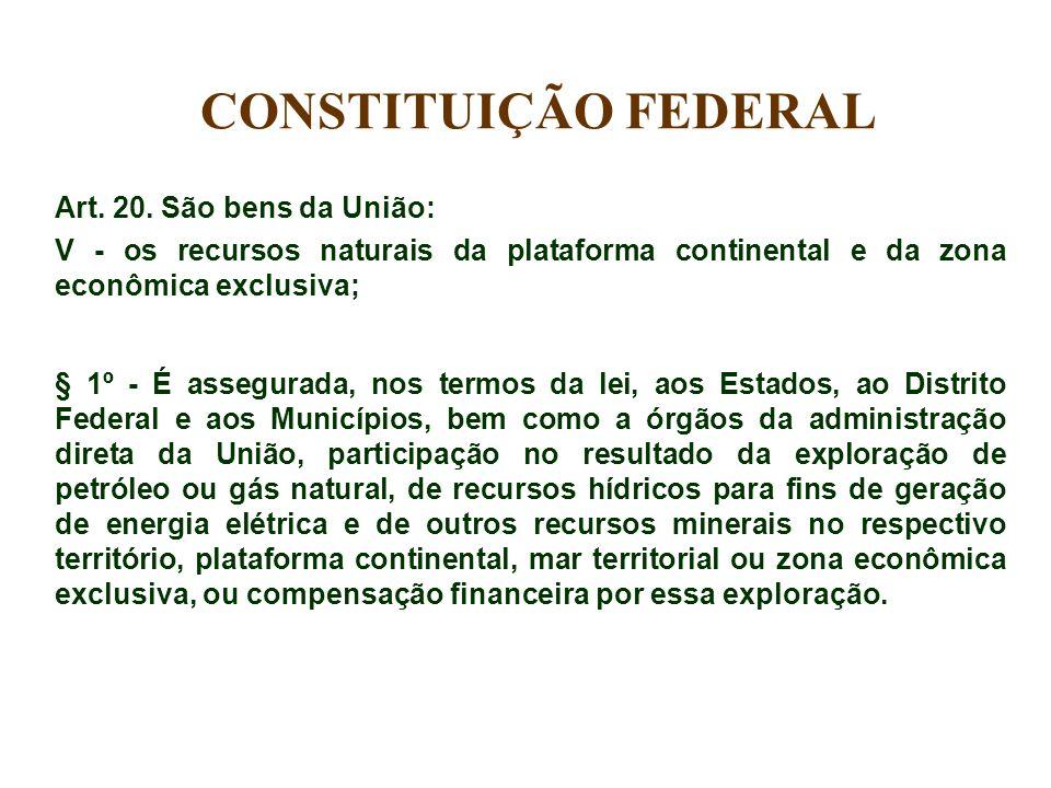 CONSTITUIÇÃO FEDERAL Art. 20. São bens da União: