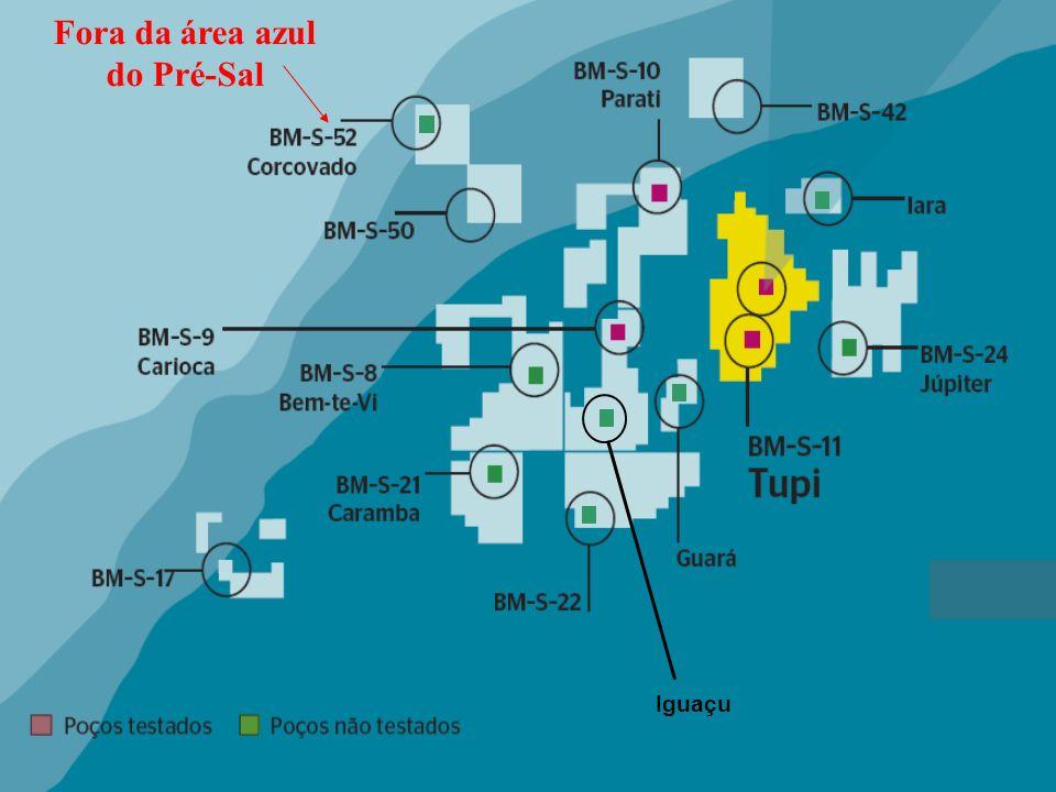 Fora da área azul do Pré-Sal