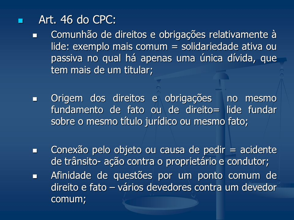 Art. 46 do CPC: