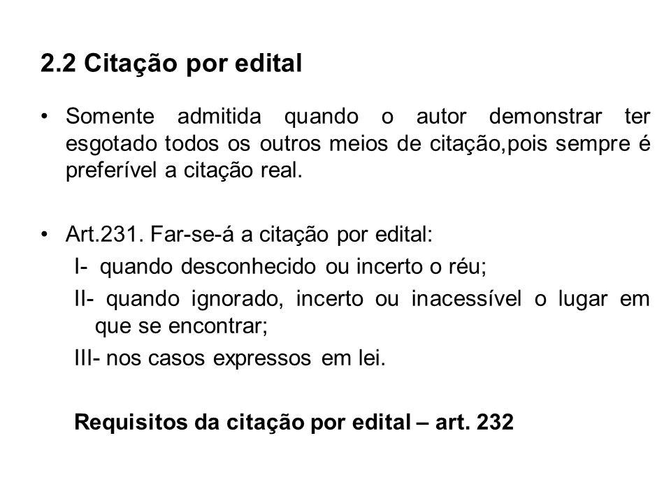 2.2 Citação por edital