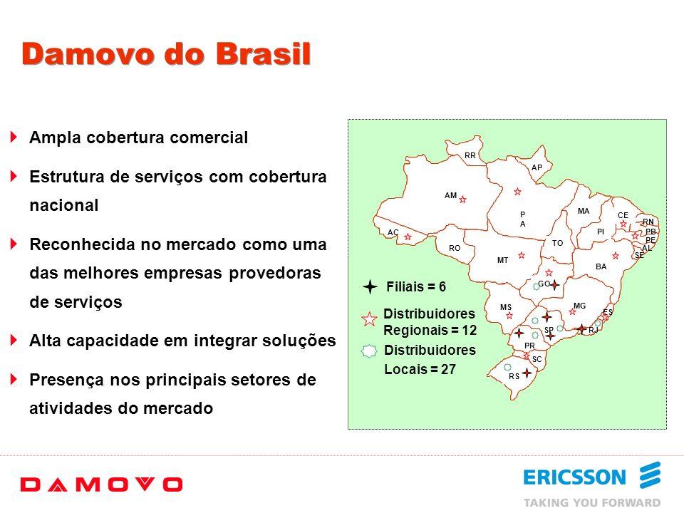 Damovo do Brasil Ampla cobertura comercial