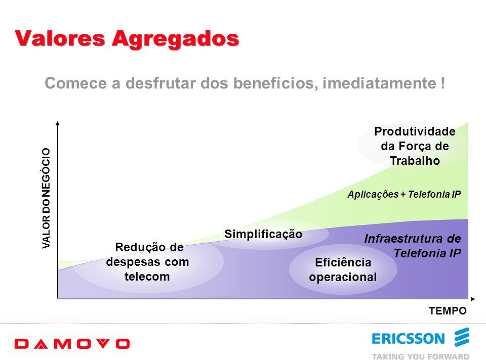 Produtividade da Força de Trabalho Redução de despesas com telecom