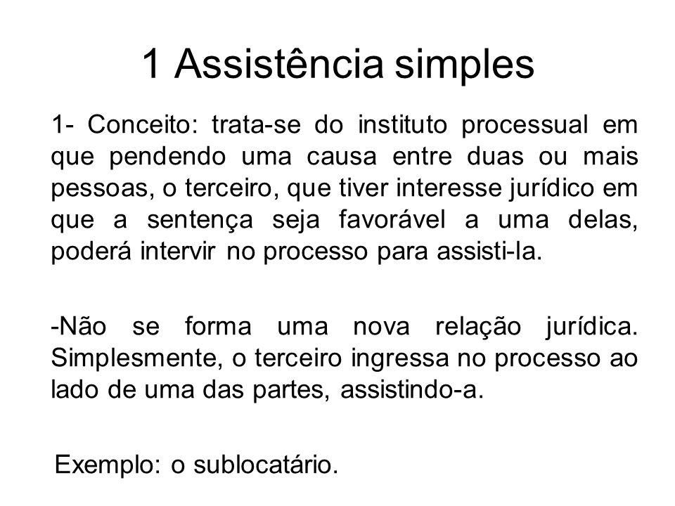 1 Assistência simples