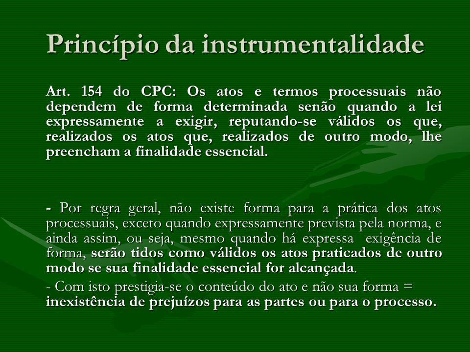 Princípio da instrumentalidade
