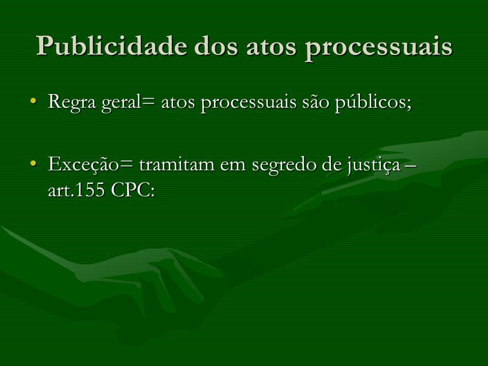 Publicidade dos atos processuais