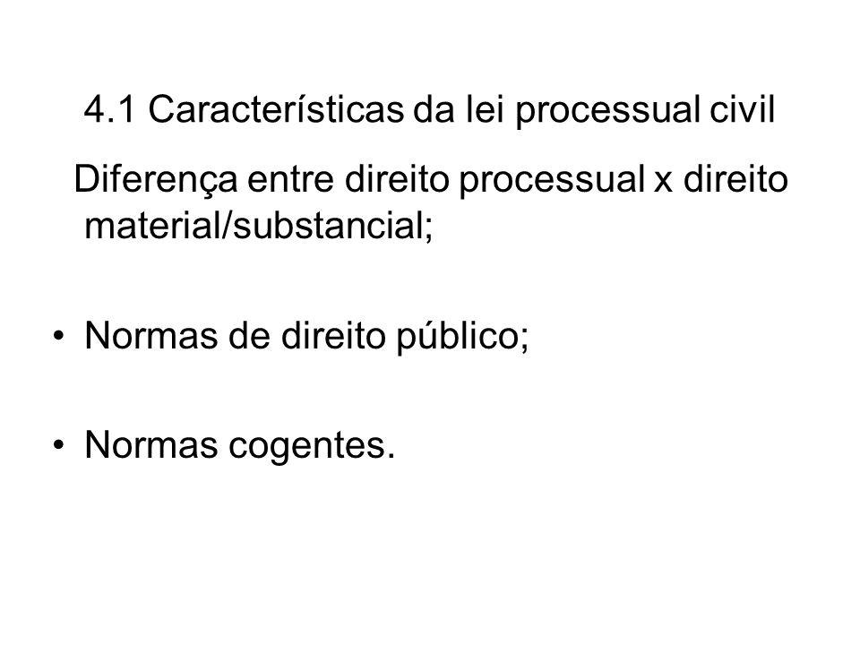 4.1 Características da lei processual civil