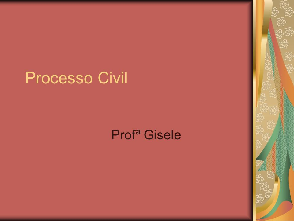 Processo Civil Profª Gisele