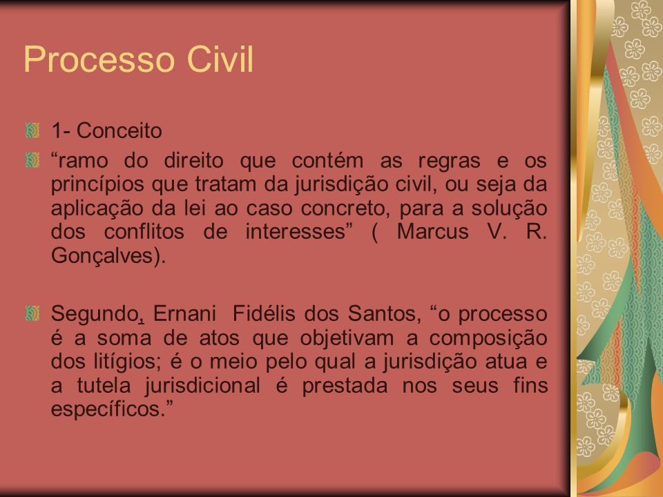Processo Civil 1- Conceito