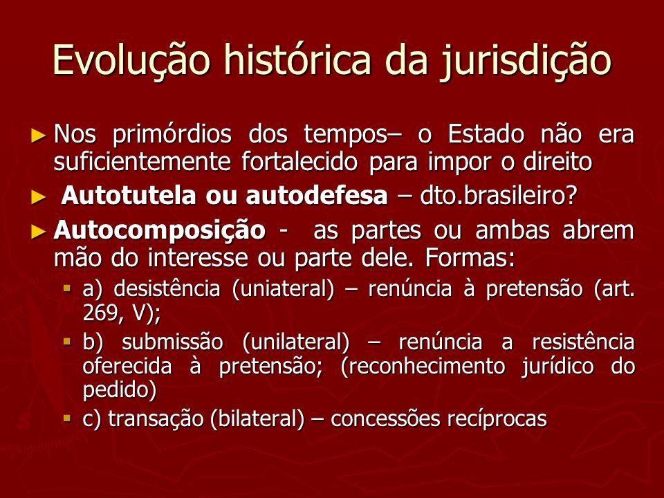 Evolução histórica da jurisdição