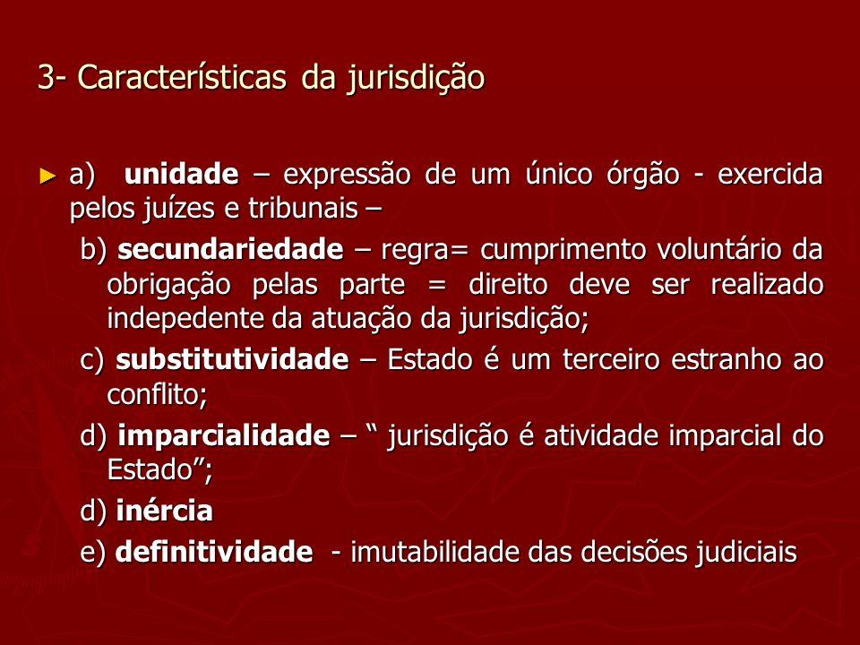 3- Características da jurisdição