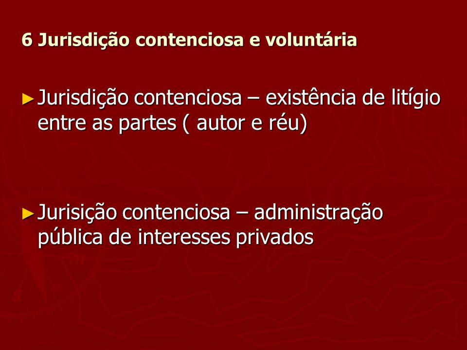 6 Jurisdição contenciosa e voluntária