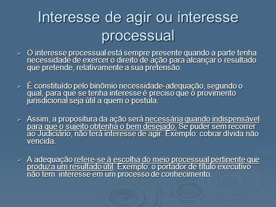 Interesse de agir ou interesse processual