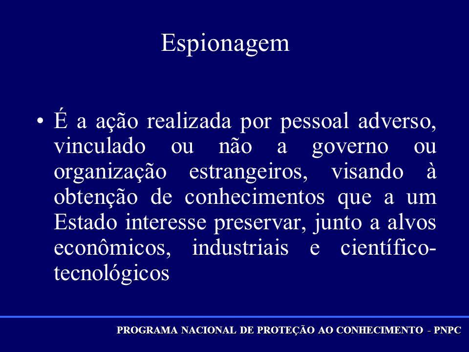 PROGRAMA NACIONAL DE PROTEÇÃO AO CONHECIMENTO - PNPC