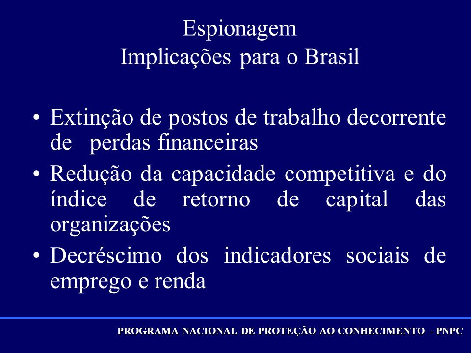 Espionagem Implicações para o Brasil