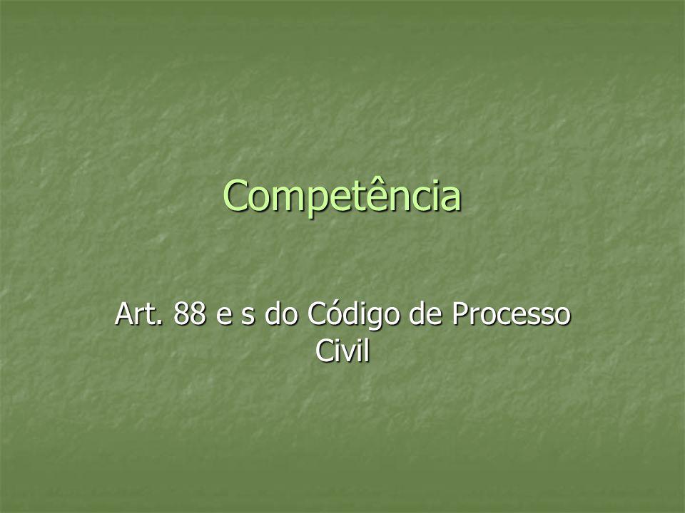 Art. 88 e s do Código de Processo Civil