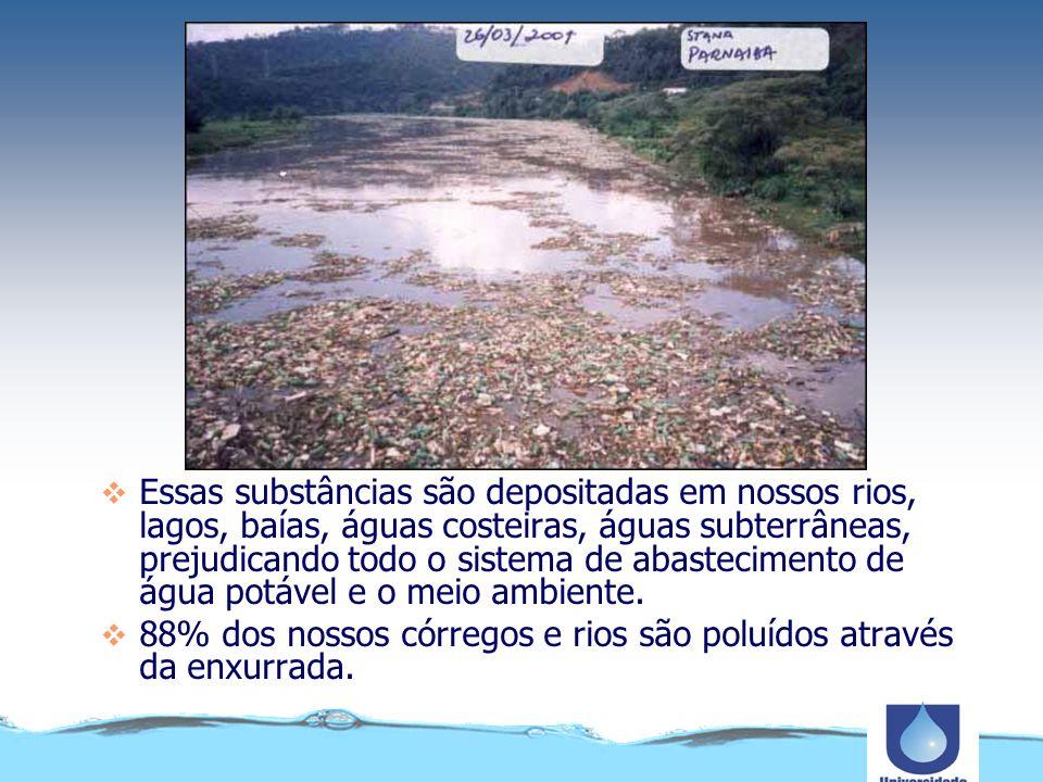 A poluição difusa é catastrófica para a água e os seres vivos