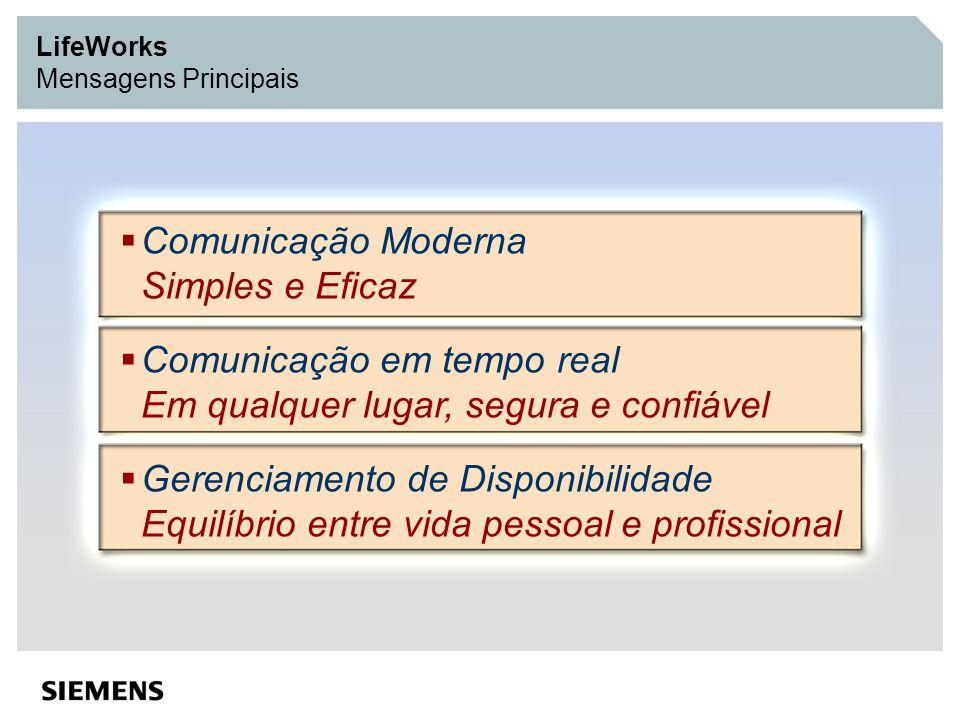 LifeWorks Mensagens Principais