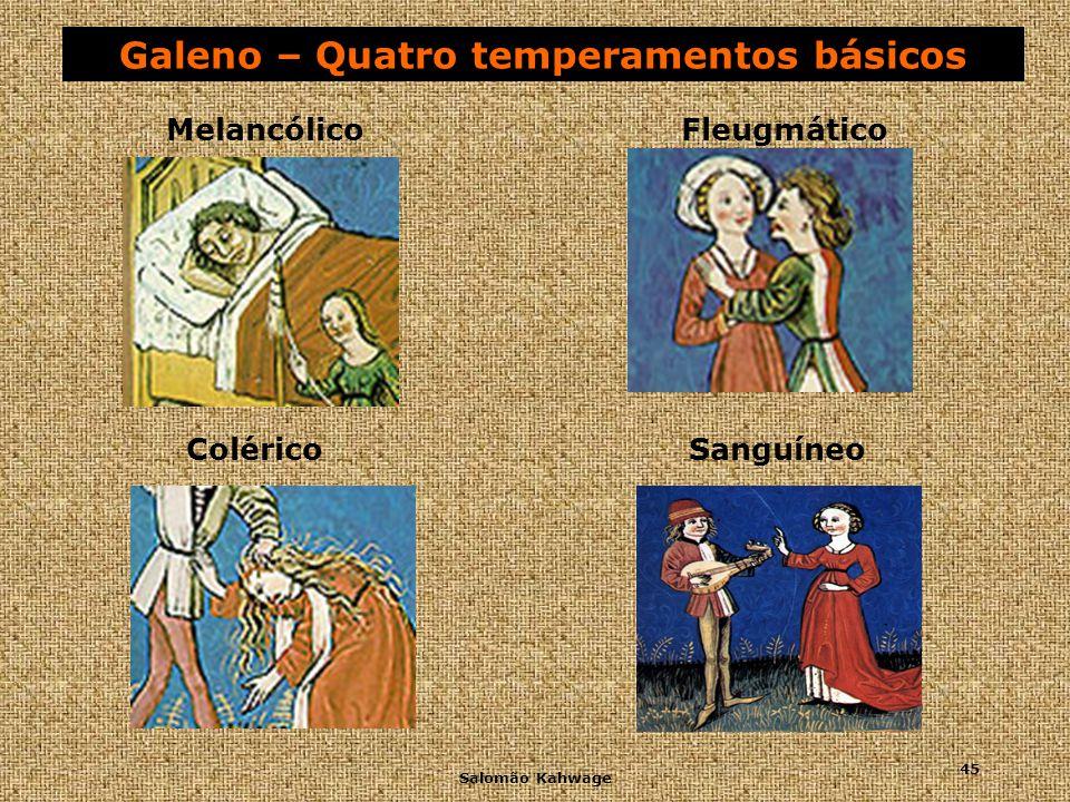 Galeno – Quatro temperamentos básicos