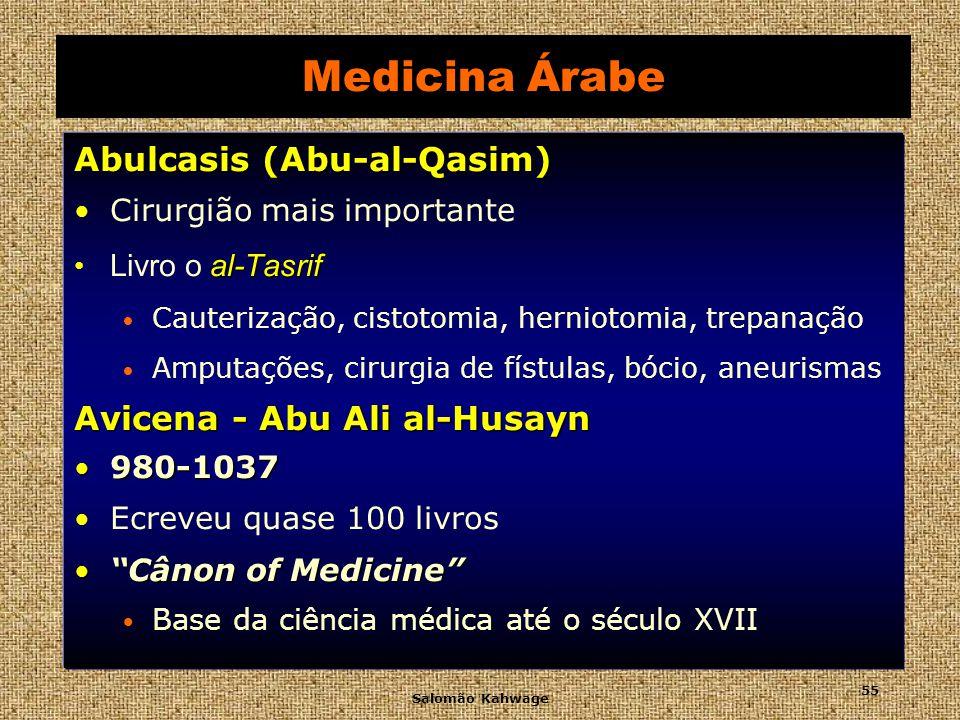 Medicina Árabe Abulcasis (Abu-al-Qasim) Avicena - Abu Ali al-Husayn