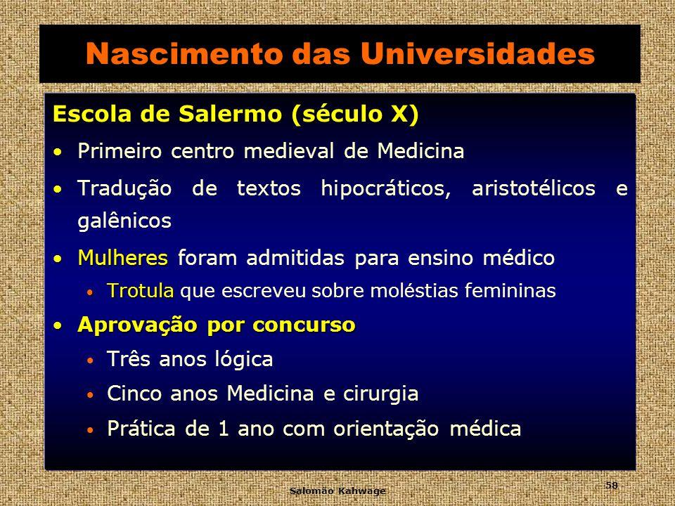 Nascimento das Universidades