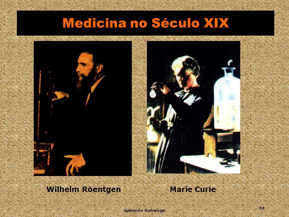 Medicina no Século XIX Wilhelm Röentgen Marie Curie Salomão Kahwage