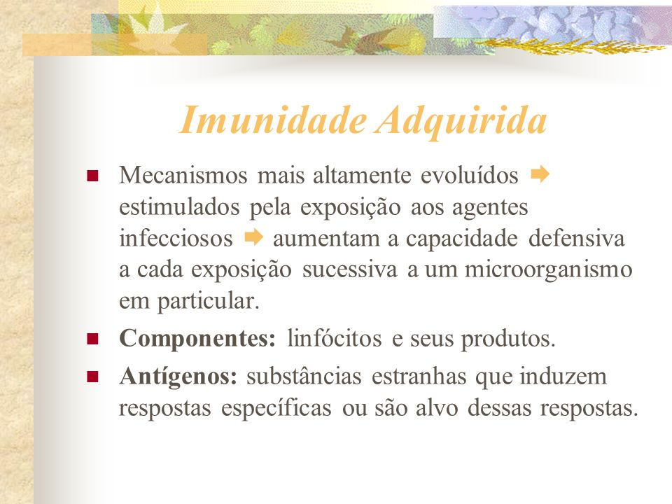 Imunidade Adquirida