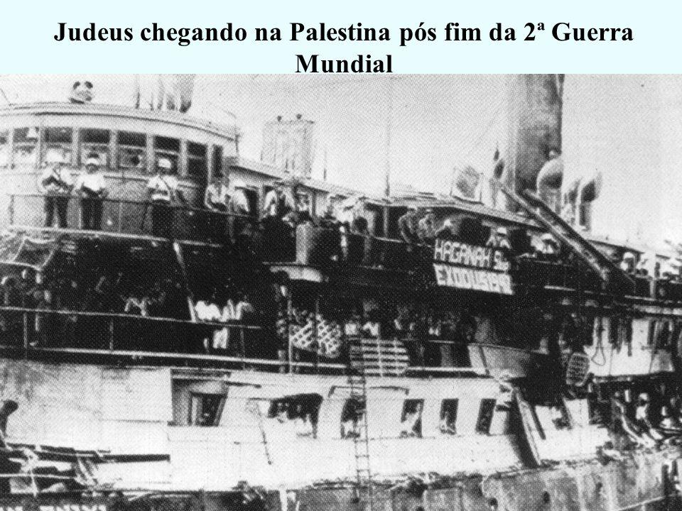 Judeus chegando na Palestina pós fim da 2ª Guerra Mundial
