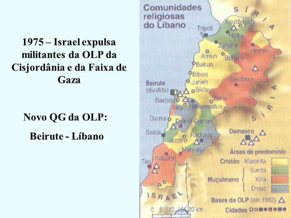 1975 – Israel expulsa militantes da OLP da Cisjordânia e da Faixa de Gaza