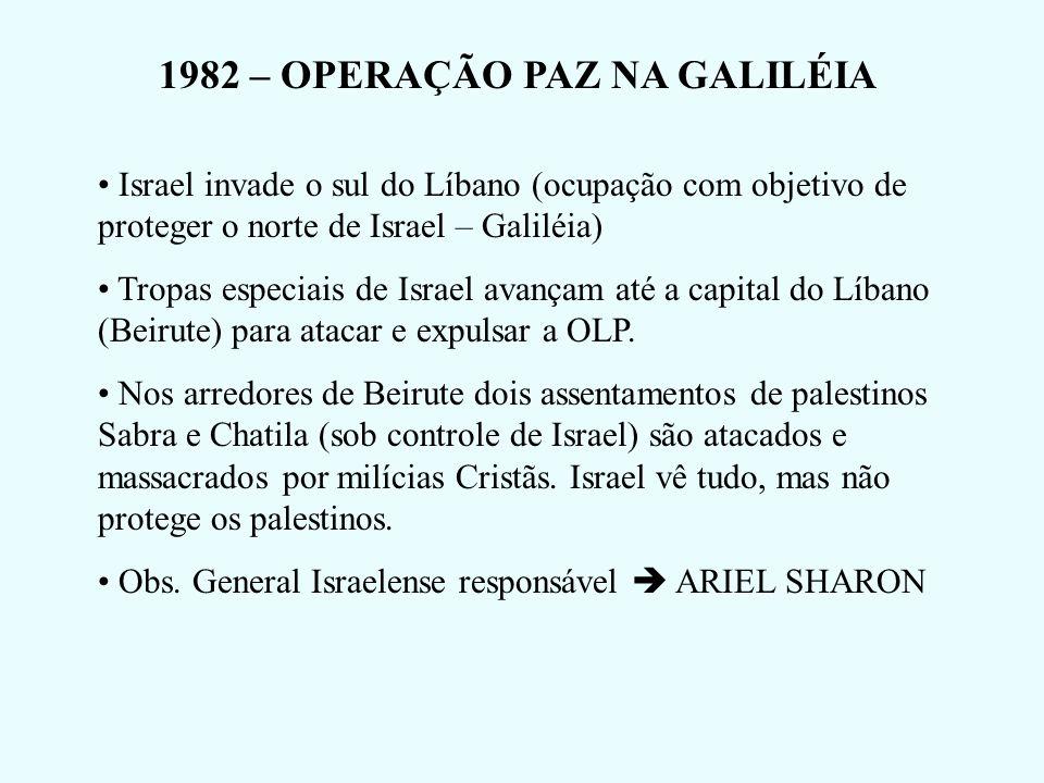 1982 – OPERAÇÃO PAZ NA GALILÉIA