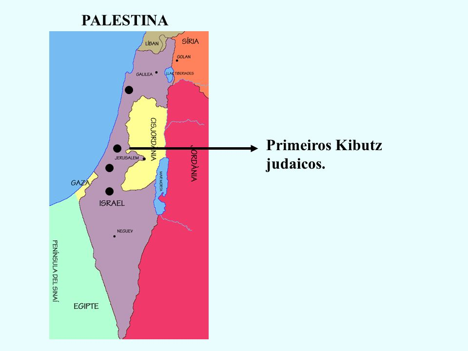 PALESTINA Primeiros Kibutz judaicos.