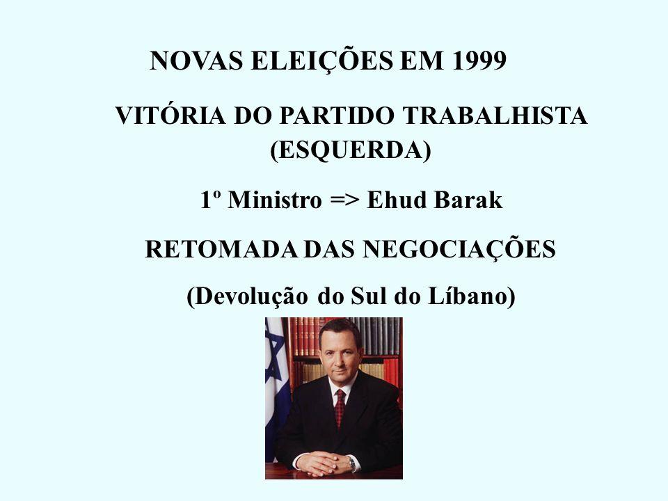 NOVAS ELEIÇÕES EM 1999 VITÓRIA DO PARTIDO TRABALHISTA (ESQUERDA)