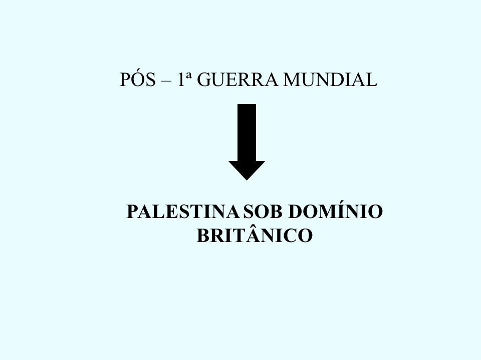 PALESTINA SOB DOMÍNIO BRITÂNICO