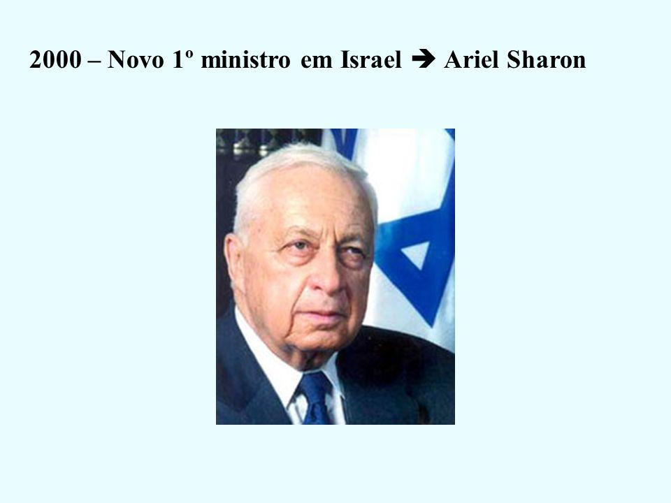2000 – Novo 1º ministro em Israel  Ariel Sharon