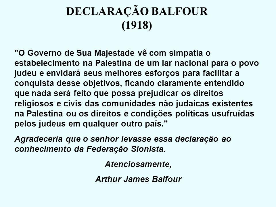 DECLARAÇÃO BALFOUR (1918)