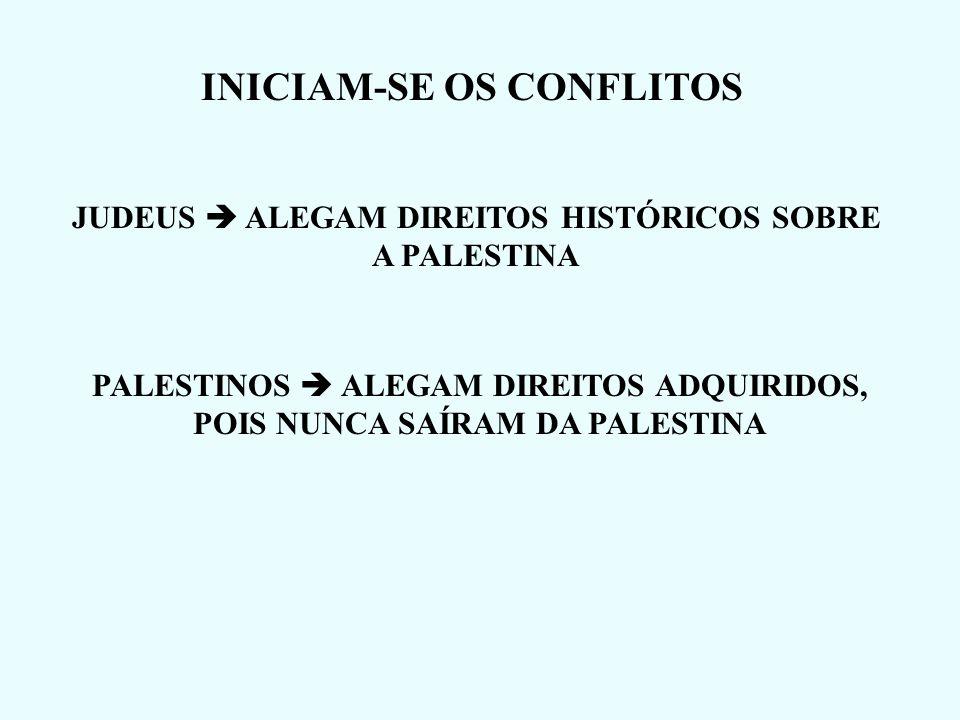 INICIAM-SE OS CONFLITOS