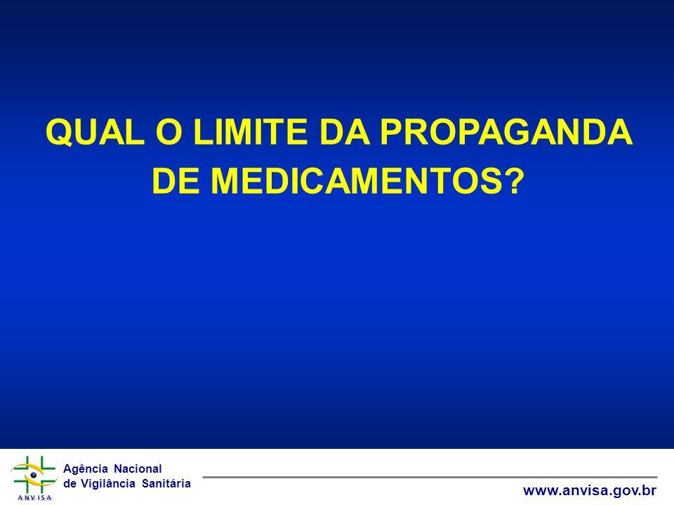 QUAL O LIMITE DA PROPAGANDA DE MEDICAMENTOS