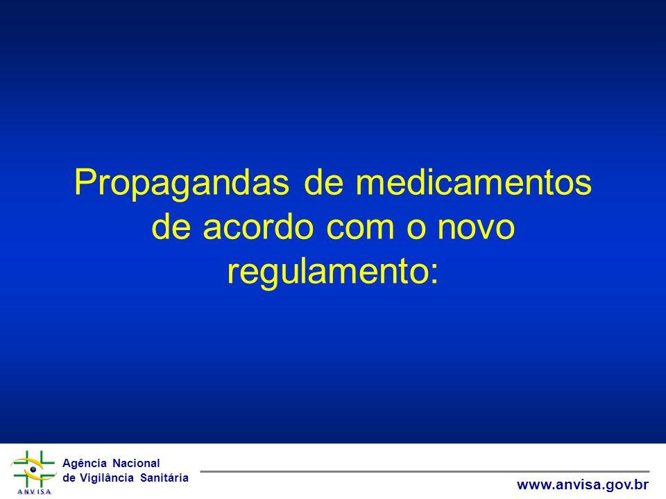 Propagandas de medicamentos de acordo com o novo regulamento: