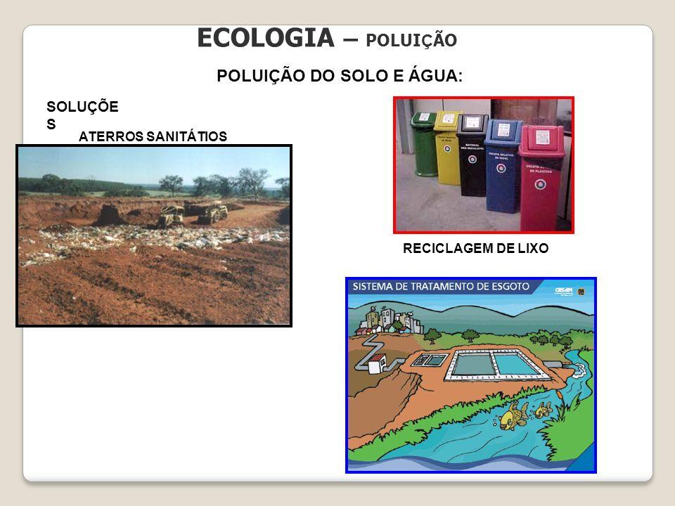 POLUIÇÃO DO SOLO E ÁGUA: