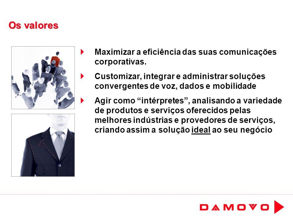 Os valores Maximizar a eficiência das suas comunicações corporativas.