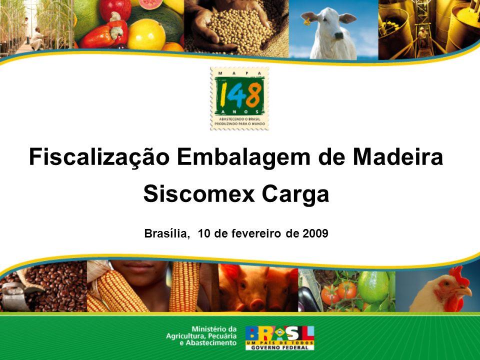 Fiscalização Embalagem de Madeira Brasília, 10 de fevereiro de 2009
