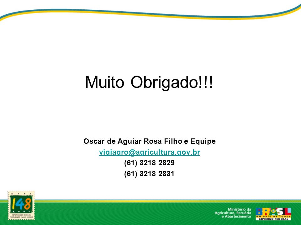 Oscar de Aguiar Rosa Filho e Equipe