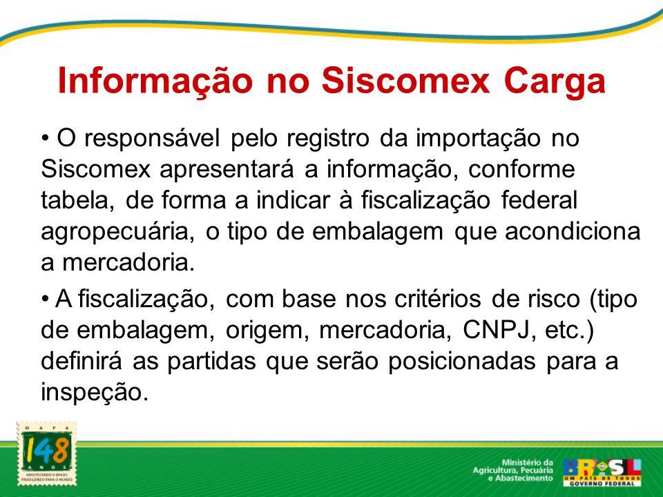 Informação no Siscomex Carga