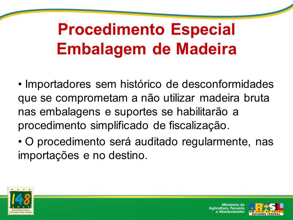 Procedimento Especial Embalagem de Madeira