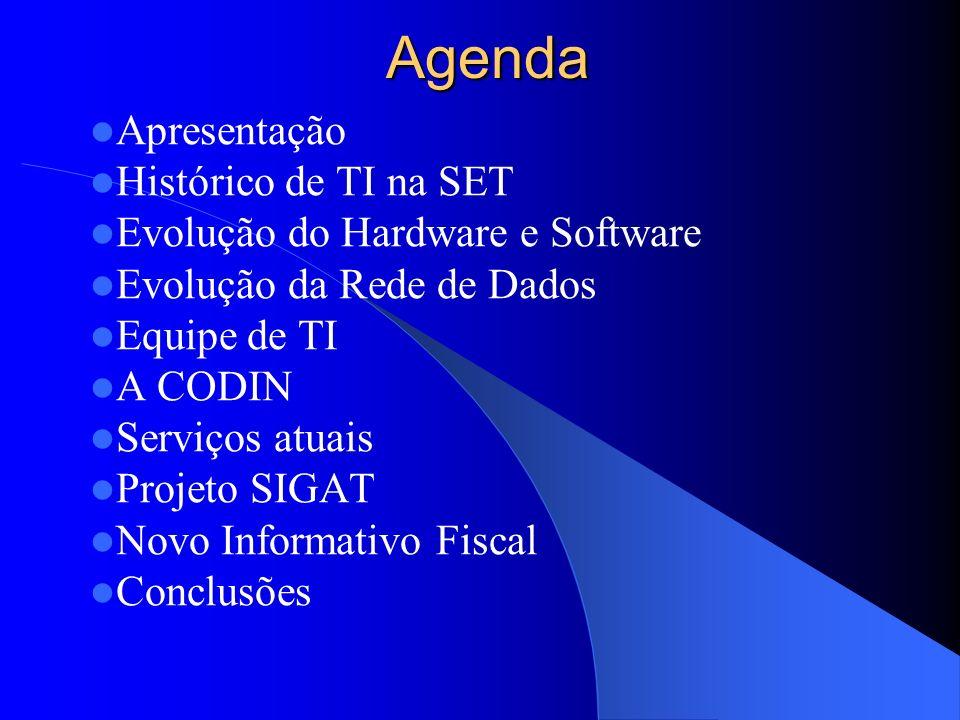Agenda Apresentação Histórico de TI na SET