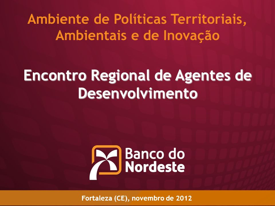 Encontro Regional de Agentes de Desenvolvimento