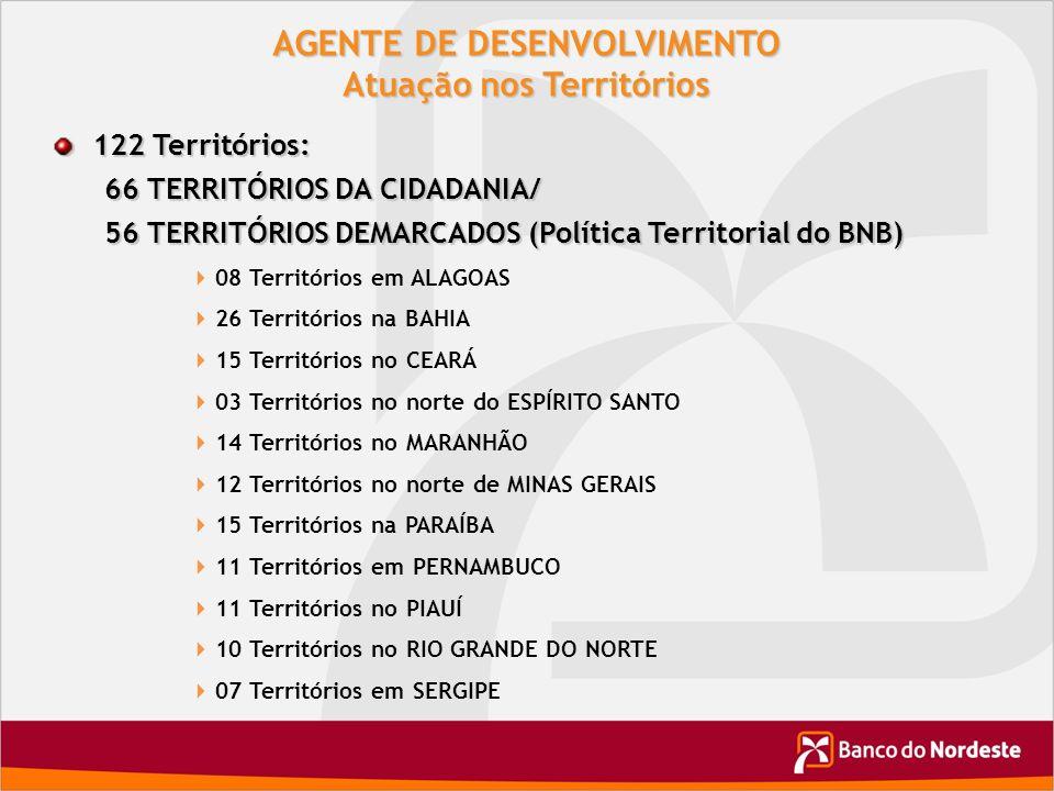 AGENTE DE DESENVOLVIMENTO Atuação nos Territórios